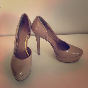 Jessica Simpson Waleo Nude Patent Heels